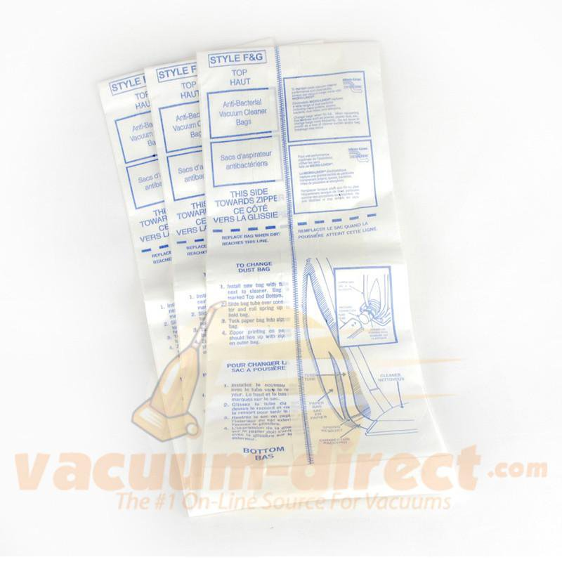 Clarke Type FG Anti Bacterial S12 series Paper Vacuum Bags  660638 3 Pack 660638