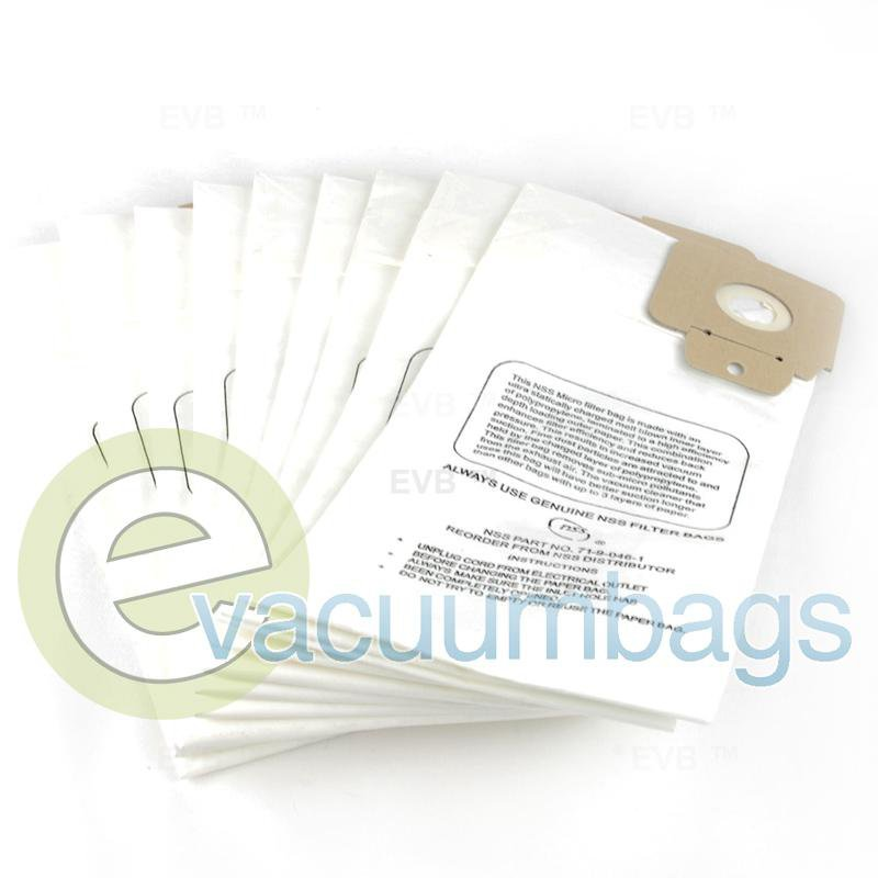 NSS Pacer 112 115 UE Upright Filter Vacuum Bags 10 Pack  7190461 7190461