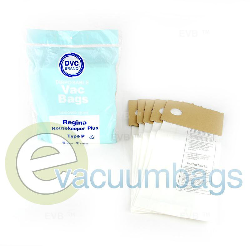 Regina Type P Upright Housekeeper Plus Paper Vacuum Bags by DVC 5 Pack  422681 72-2415-02