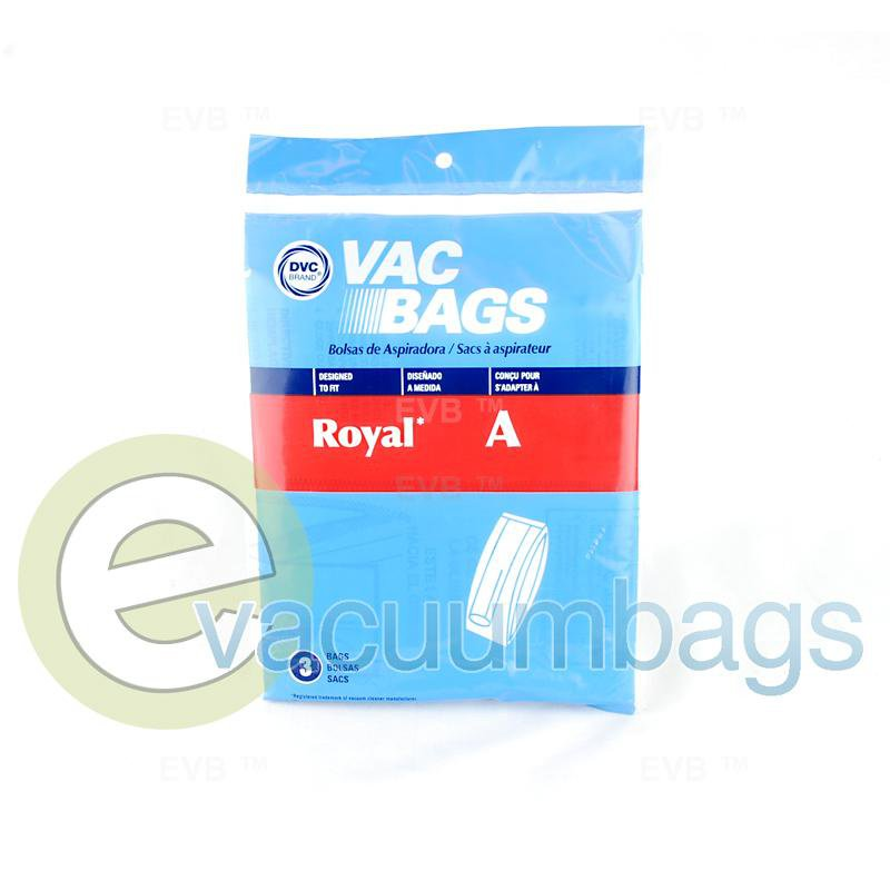 Royal Type A Upright Paper Vacuum Bags by DVC 3 Pack  429902 ROR-1400
