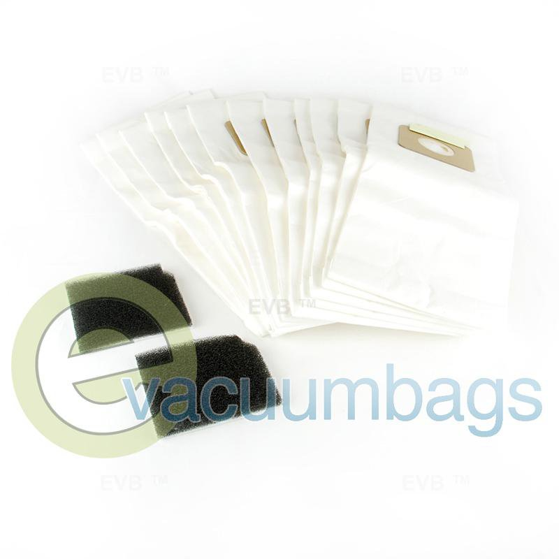 Nobles V-SMU-14 Upright Paper Vacuum Bags 12 Pack + 2 Filters  9007744 9007744