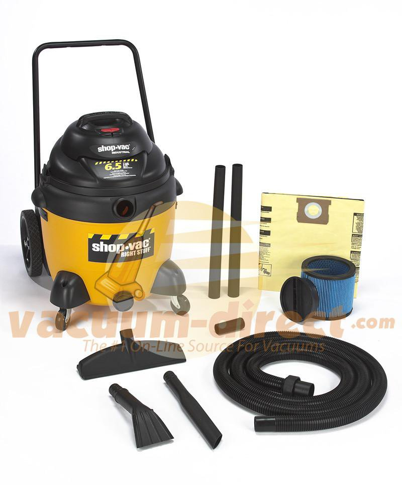 Shop-Vac DC18 Gallon Right Stuff Wet/Dry Vacuum w/ Cart 6.5 Peak HP 9625710
