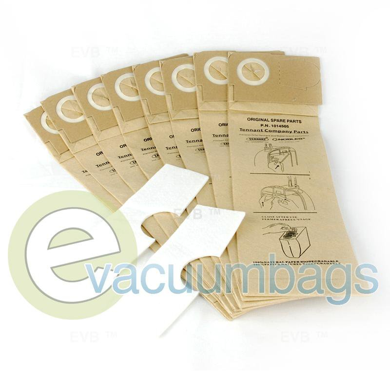 Tennant 3110 and 3120 Model Vacuum Bags 8 Bags + 2 Filters  1014505 TN-1014505