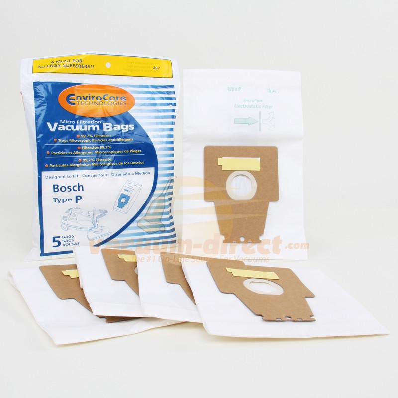 Bosch Type P Microlined Vacuum Bags by EnviroCare, 5 Pack #207