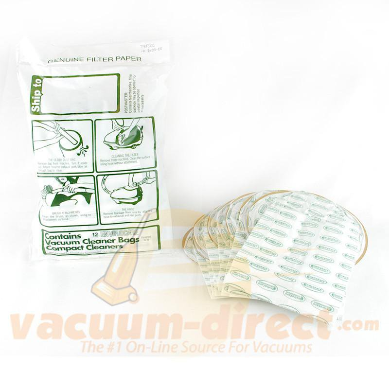 Compact & Tri Star Canister Generic Vacuum Bags by EnviroCare 12 Pack  738EC 12-2412-02