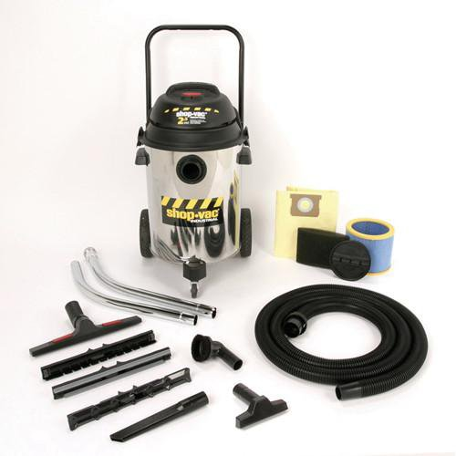 Shop-Vac 10 Gallon Stainless Steel Industrial Multi-Purpose Wet/Dry Vacuum 2.5 Peak HP 9624710