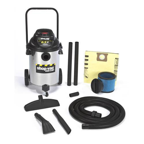 Shop-Vac 10 Gallon Stainless Steel Right Stuff Wet/Dry Vacuum 6.5 Peak HP 9625510