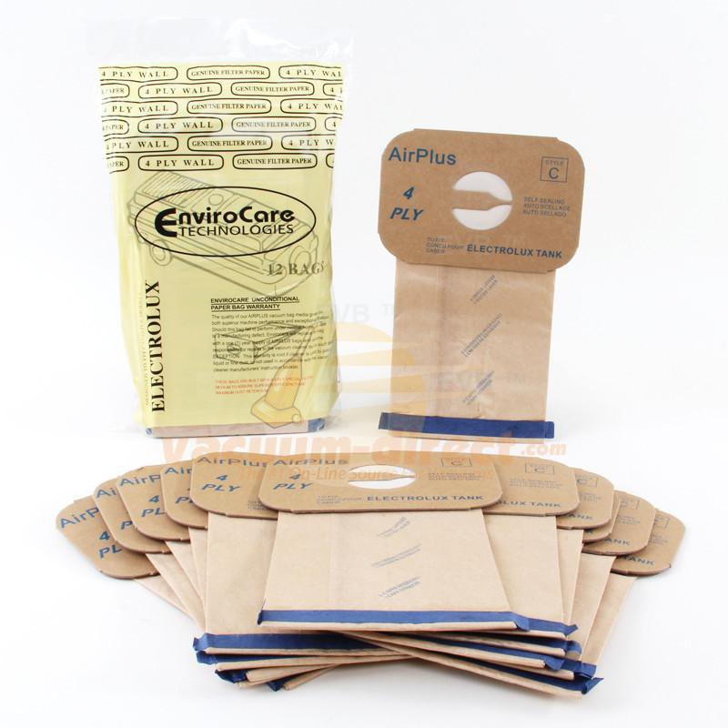 Electrolux Style C 4-Ply Generic Canister Vacuum Bags by EnviroCare 12 Pack  805FP 26-2410-05