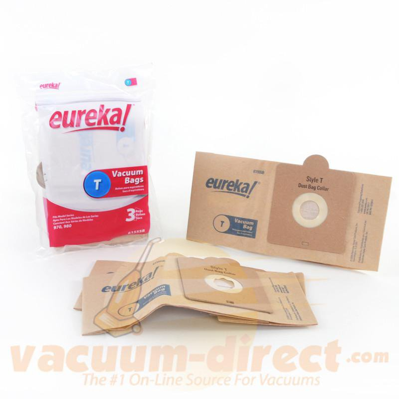 Eureka Style T  970 & 980 Series Canister Vacuum Bags 3 Pack E-61555