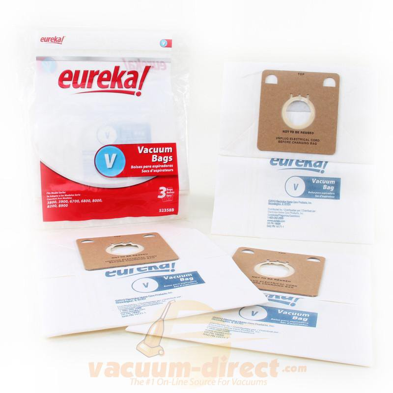 Eureka Style V Canister Vacuum Bags 3 Pack 23-2450-01