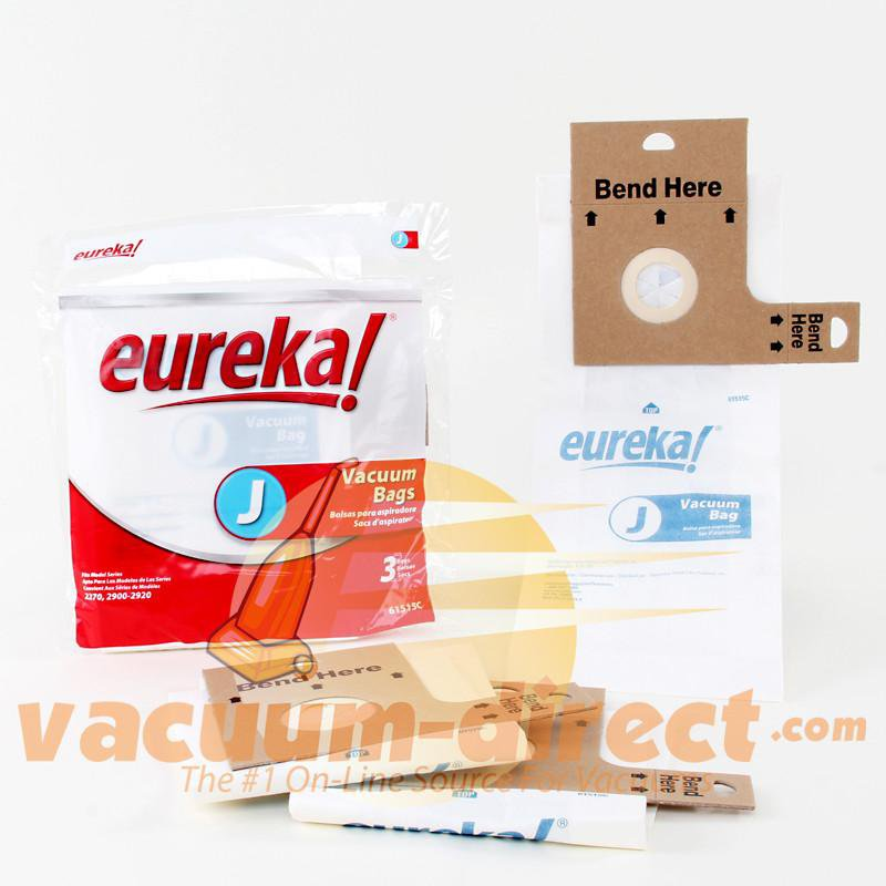 Eureka Type J  Upright Vacuum Bags 3 Pack 21-2429-09