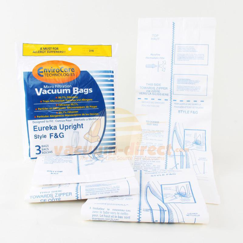 Eureka Style F & G Micro Filtration EnviroCare Vacuum Bags 3 Pack #216