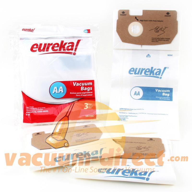 Eureka Type AA Upright Vacuum Bags 3 Pack 21-2425-01