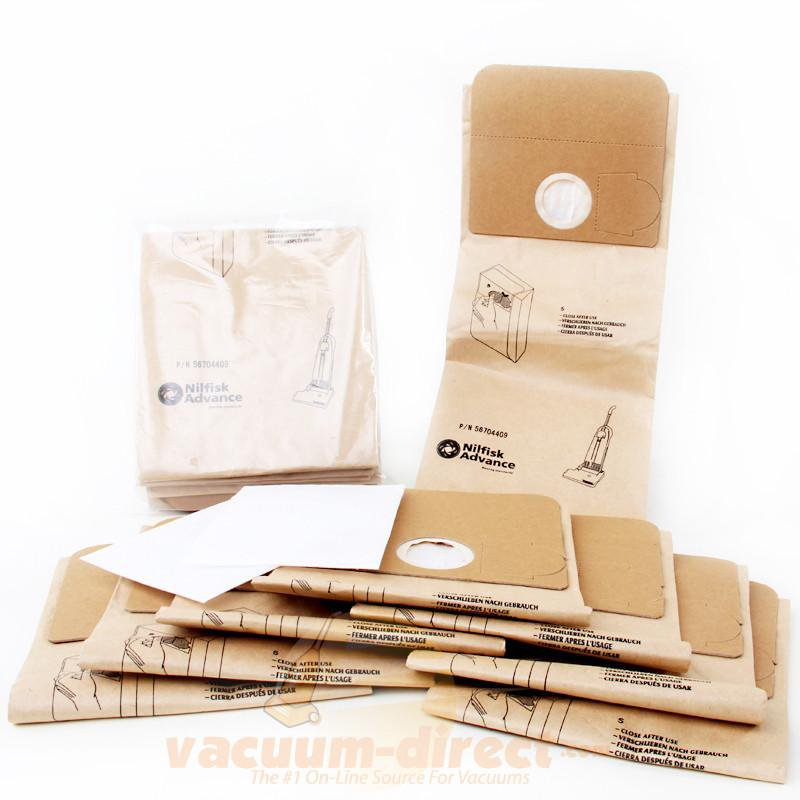 Euroclean Edge 12 & Advance Power 1 Vacuum Bag & Filter Set  8 Bags & 2 Filters 56704409