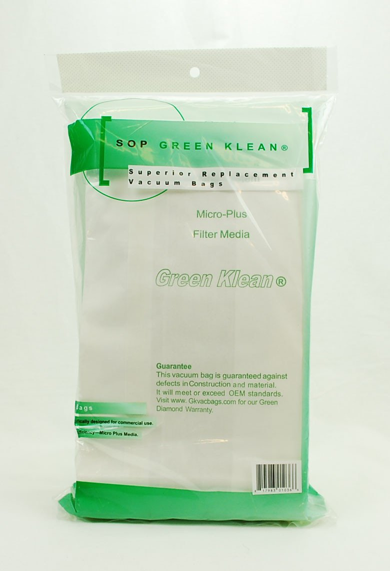 Green Klean Oreck Style CC & XL Micro-Plus Vacuum Bags 8 pack GK-OR-XL