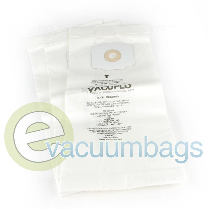 VacuFlo Model 200 Series Paper Vacuum Bag 3 Pack  6528 HP-6528