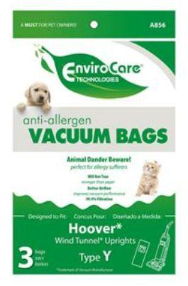 Hoover Type Y Generic WindTunnel Anti-Allergen Vacuum Bags by EnviroCare 3 Pack  A856 HR-14553A