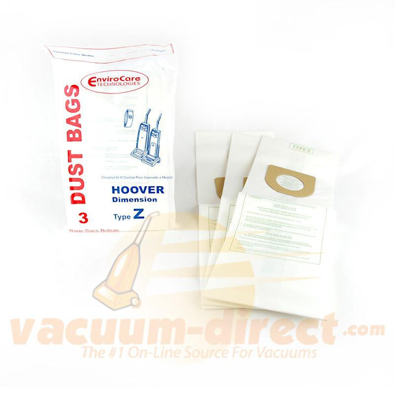Hoover Style Z Generic Upright Vacuum Bags by EnviroCare, 3 Pack #857SW
