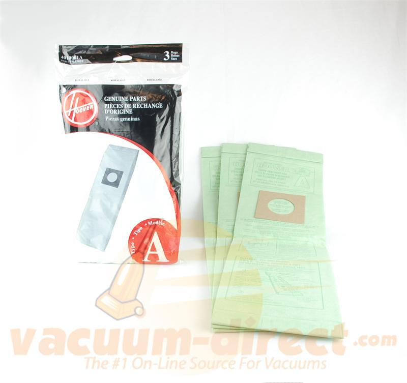 Hoover Type A Upright Vacuum Bags 3 Pack Genuine Hoover Parts 39-2440-08