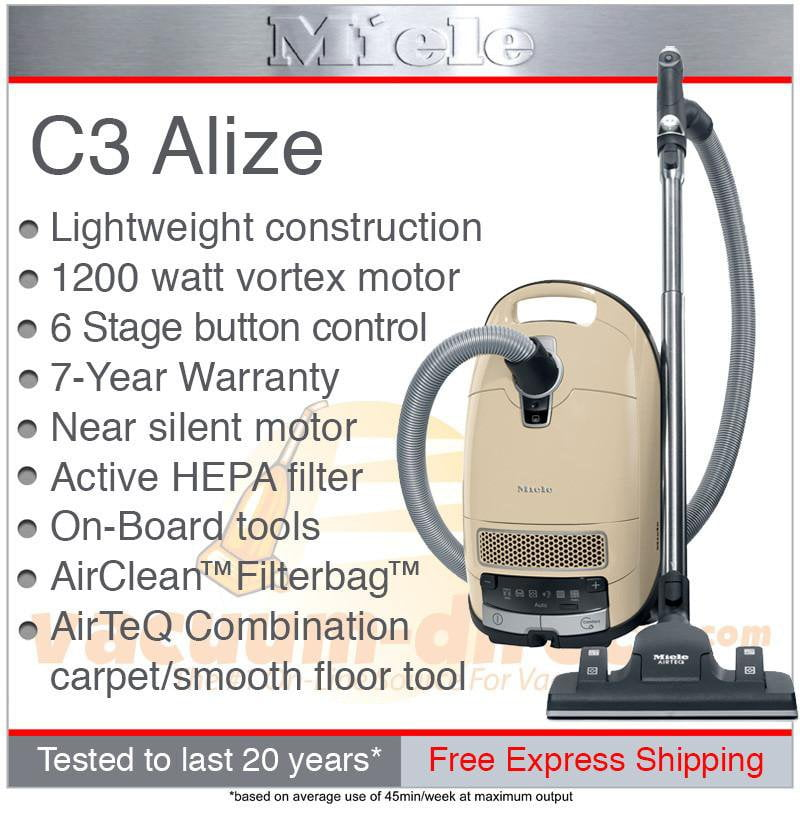 Miele Complete C3 Alize Canister Vacuum-Ivory White
