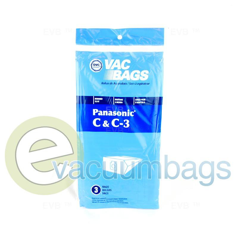 Panasonic Type C C-3 Canister Paper Vacuum Bags by DVC 3 Pack  405485 PR-1425