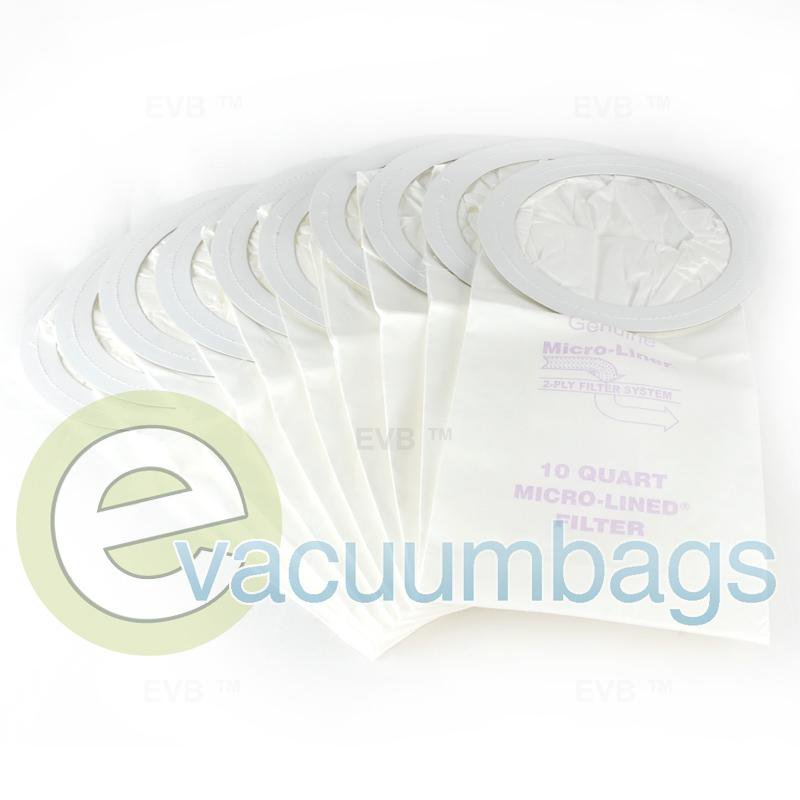 ProTeam 10 Quart Micro-Lined Paper Vacuum Bags Generic 10 Pack  450243 PVR-1415