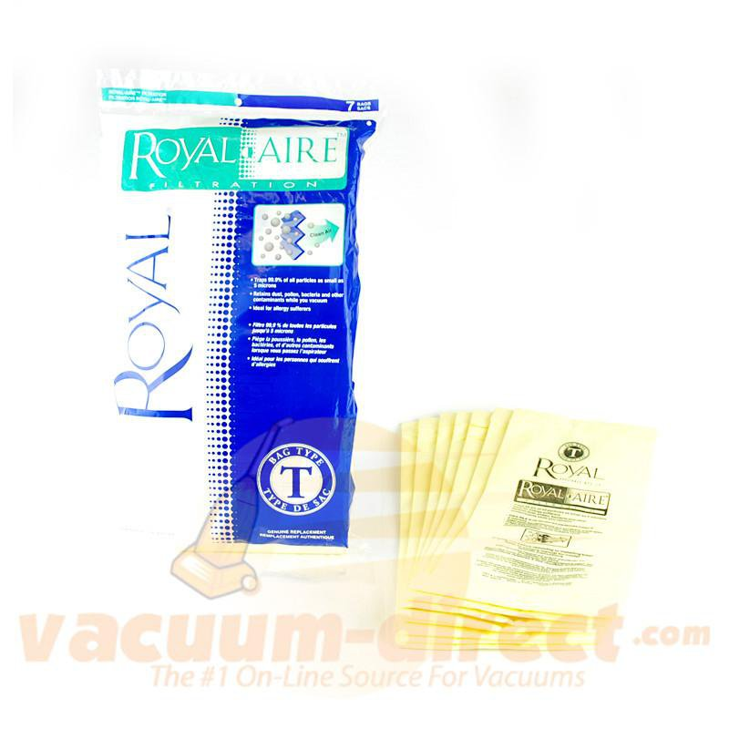 Royal Regina Type T Upright Royal-Aire Filtration Vacuum Bags 7 Pack 81-2422-04