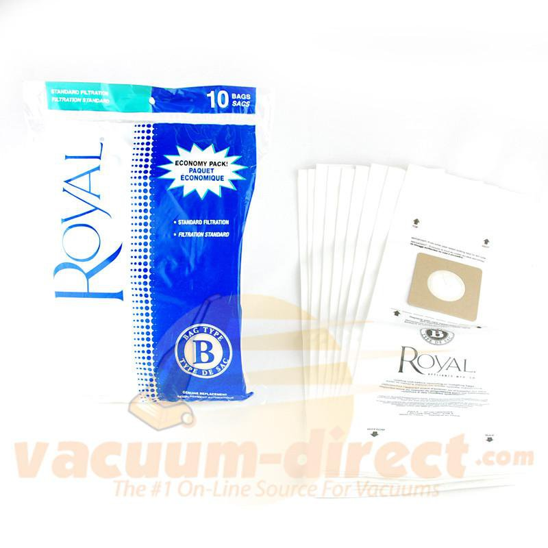 Royal Type B Top Fill Disposable Vacuum Bags 10 Pack 81-2402-01