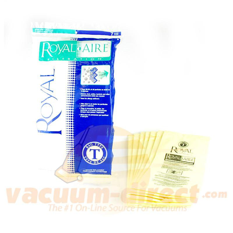 Royal Type T Royal-Aire Filtration Vacuum Bags 7 Pack Genuine Royal 81-2422-04