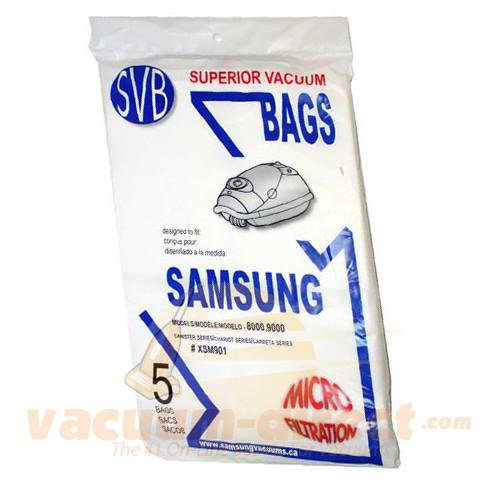 Samsung Type VP-90 Canister Vacuum Bags 5 Pack by SVB SMR-1400