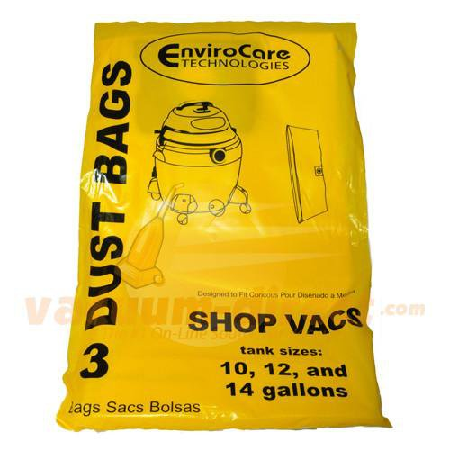 Shop Vac 10-14 Gallon Tank Generic Vacuum Bags by EnviroCare 3 Pack   770SW 88-2419-04