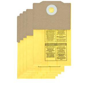 Shop Vac Back Pack Collection Filter Bags 5 Pack 9191710