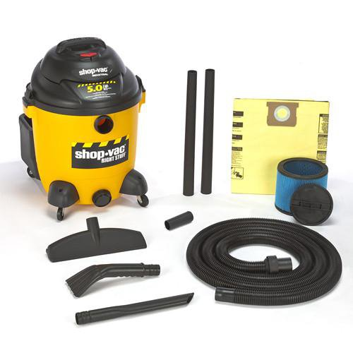 Shop-Vac 12 Gallon Right Stuff Wet/Dry Vacuum - 5.0 Peak HP