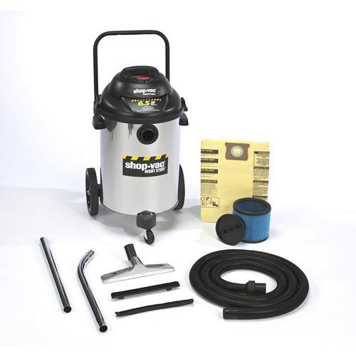 Shop-Vac 15 Gallon Stainless Steel Right Stuff Wet/Dry Vacuum - 6.5 Peak HP