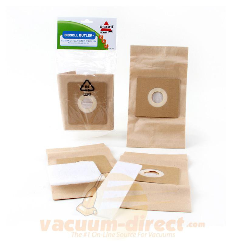 Simplicity Scout Paper Vacuum Bags by Bissell 3 Bag Pack with Prefilter and Postfilter 19-2400-01