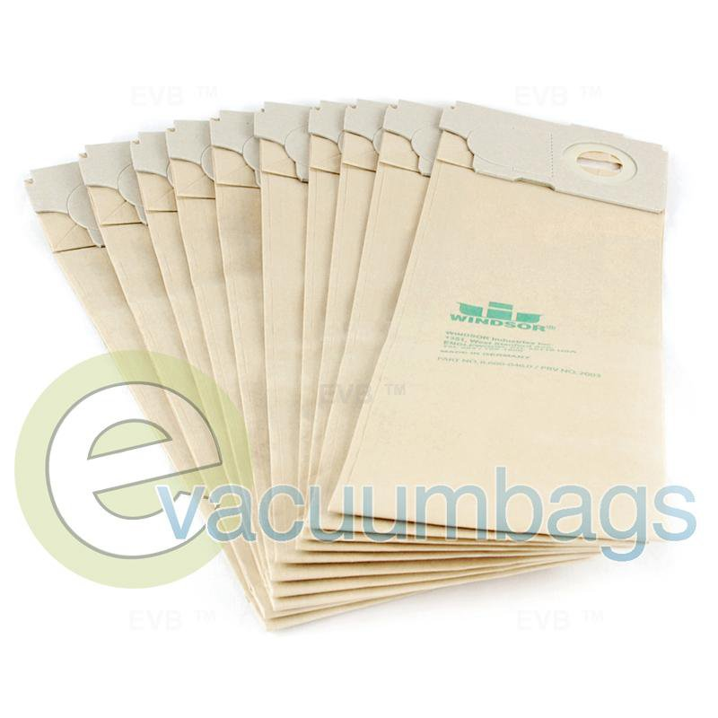 Windsor Versamatic Micro Filter Upright Paper Vacuum Bags 10 Pack  9.840-641.0 WI-2003