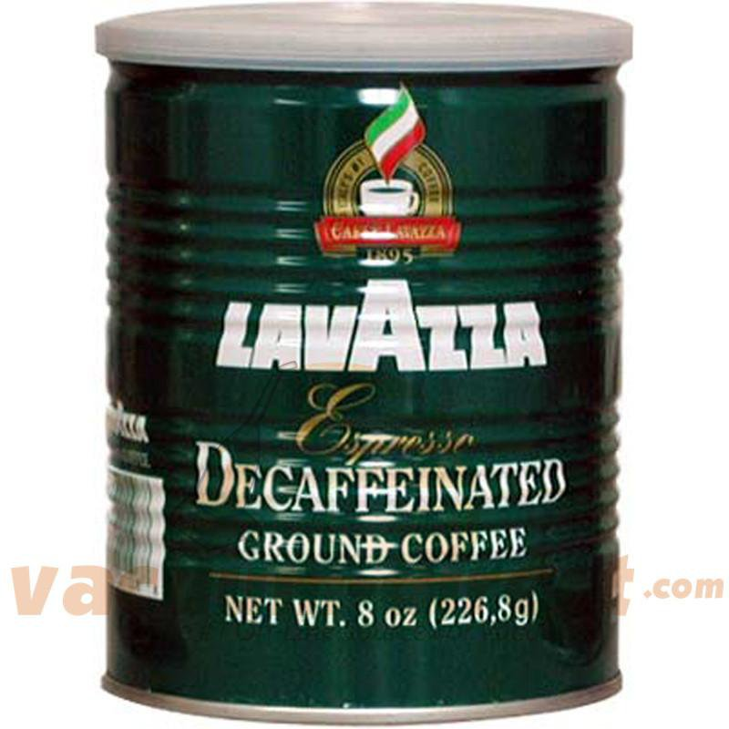 Lavazza Espresso Decaffeinato Ground Coffee Can 8oz 1108
