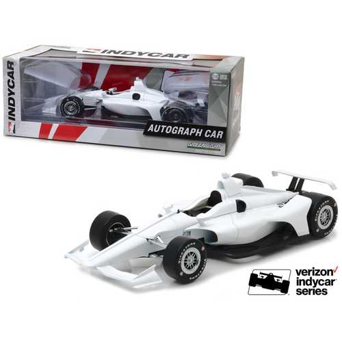 "2018 Dallara White Autograph Indy Car ""Verizon Indycar Series"" 1/18 Diecast Model Car by Greenlight"