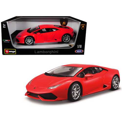 Lamborghini Huracan LP 610-4 Red 1/18 Diecast Model Car by Bburago