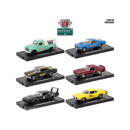Drivers 6 Cars Set Release 43 In Blister Packs 1/64 Diecast Model Cars by M2 Machines