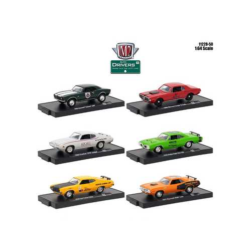 Drivers 6 Cars Set Release 50 In Blister Packs 1/64 Diecast Model Cars by M2 Machines