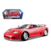 Bugatti EB 110 Red 1/18 Diecast Model Car by Bburago