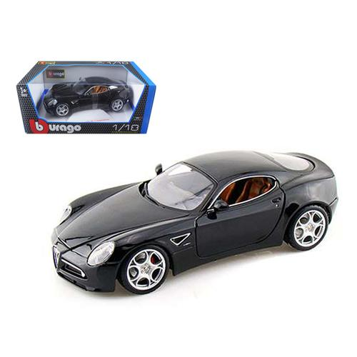 Alfa Romeo 8C Competizione Black 1/18 Diecast Model Car by Bburago
