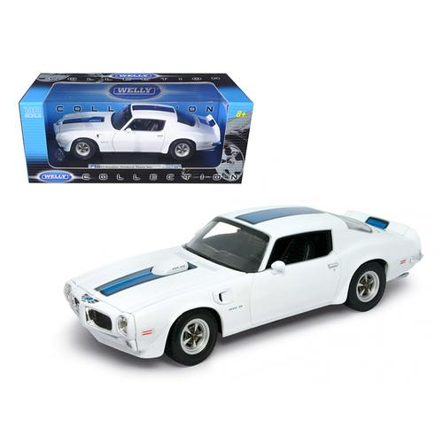 1972 Pontiac Firebird Trans Am White 1/18 Diecast Car by Welly