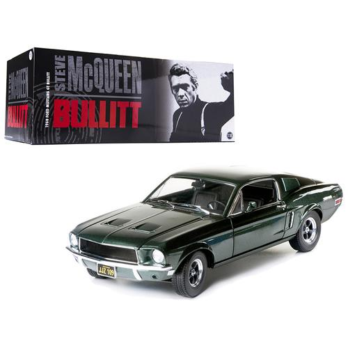 "1968 Ford Mustang GT Fastback ""Bullitt"" Steve Mcqueen Highland Green 1/18 Diecast Car Model by Greenlight"
