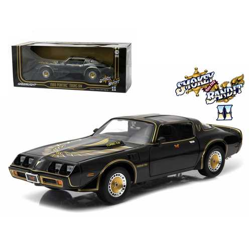 "1980 Pontiac Trans Am Turbo 4.9L ""Smokey And The Bandit 2"" Movie Car 1/18 Diecast Model by Greenlight"