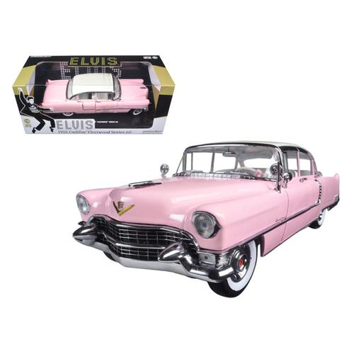 "1955 Pink Cadillac Fleetwood Series 60 Special ""Elvis Presley"" 1/18 Diecast Model Car by Greenlight"