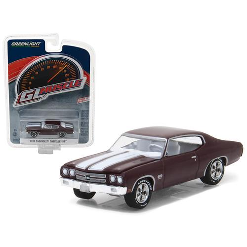1970 Chevrolet Chevelle SS 454 Black Cherry Greenlight Muscle Series 19 1/64 Diecast Model Car by Greenlight