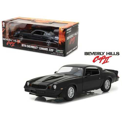 "1978 Chevrolet Camaro Z/28 Black From ""Beverly Hills Cop 2"" Movie 1/18 Diecast Model Car  by Greenlight"
