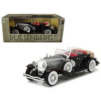1934 Duesenberg II SJ Black and Silver 1/18 Diecast Model Car by Greenlight